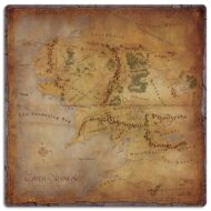 Lord of the Rings Journeys In Middle-earth Game Mat
