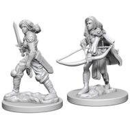 D&D fígurur (Pathfinder) Human Female Fighter