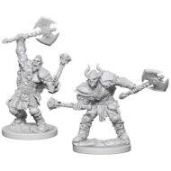 D&D fígurur (Pathfinder) Holf Orc Male Barbarian