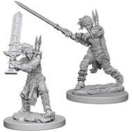 D&D fígurur (Pathfinder) Female Human Barbarian