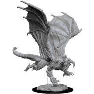D&D fígurur Young Black Dragon