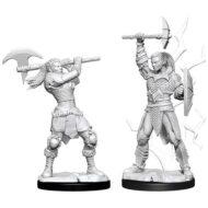 D&D fígurur Female Goliath Barbarian