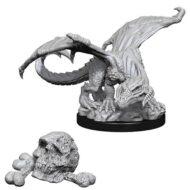 D&D fígurur Black Dragon Wyrmling