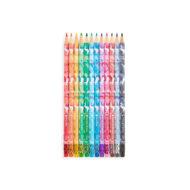 Unique Unicorns 12 Erasable Colored Pencils