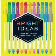 Bright Ideas  – 12 neon and glitter pens