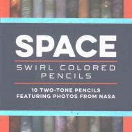 Space Swirl Colored Pencils