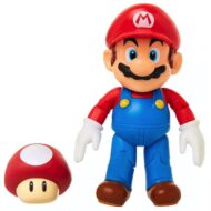 World of Nintendo – Mario with Super Mushroom 4-Inch Action Figure