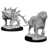 D&D fígúrur Mastif & Shadow Mastif