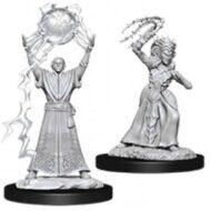 D&D fígurur: Drow Mage & Drow Priestess