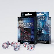 Q-Workshop Teningasett Classic RPG Transparent Blue/Red (7)