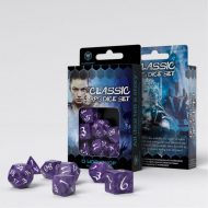 Q-Workshop Teningasett Classic RPG Lavender/White (7)