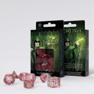 Q-Workshop Teningasett Elvish Transparent/Red (7)
