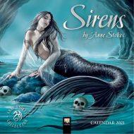 Sirens by Anne Stokes – minna veggdagatal 2021