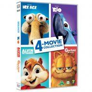 Ice Age / Rio / Alvin / Garfield 4-Movie Collection DVD