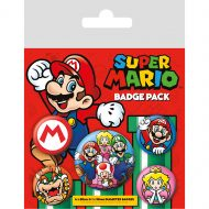 Super Mario Mario Badge Pack