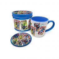 Marvel Retro Collectors Cards Mug Tin Set