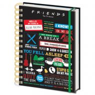 Friends Infographic A5 Notebook