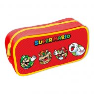 Super Mario Character Circles Rectangle Pencil Case