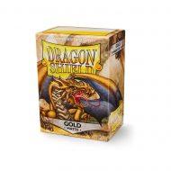 Dragon Shield Spilaplöst Matt  Gold (100)
