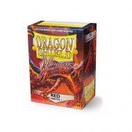 Dragon Shield Spilaplöst Matt  Red (100)
