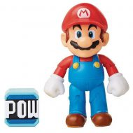 World of Nintendo 4-Inch Action Figure – Mario with Pow Block