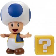World of Nintendo 4-Inch Action Figure – Blue Toad with Question Block