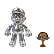 World of Nintendo 4-Inch Action Figure – Metal Mario with Trophy