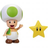 World of Nintendo 4-Inch Action Figure – Green Toad with Super Star