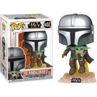 Star Wars The Mandalorian Flying with Child Pop! Vinyl Figure