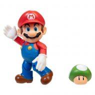 World of Nintendo 4-Inch Action Figure – Mario with 1-Up Mushroom