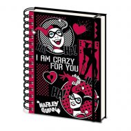 Harley Quinn Retro A5 Notebook