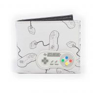 SNES –  Controller AOP Bifold Wallet With Rubber Patch