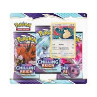 Pokemon Sword & Shield 6 Chilling Reign 3 Pack Booster (Snorlax)