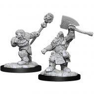 D&D fígúrur Dwarf Fighter & Dwarf Cleric