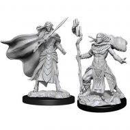 D&D fígúrur Elf Fighter & Elf Cleric