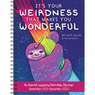 Its Your Weirdness That Makes You Wonderful  Sept 21-Dec 22 Monthly Planner