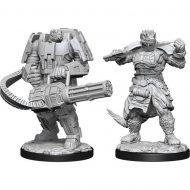 D&D fígúrur Starfinder Vesk Soldier